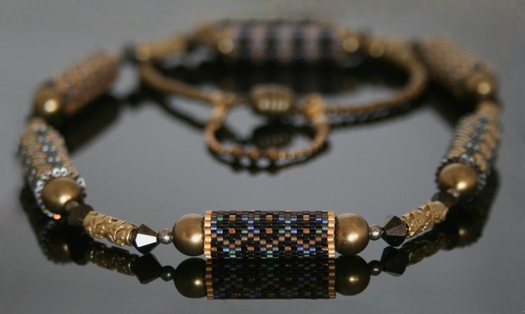 Art Deco beaded beads 1